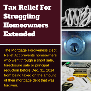 Tax Relief For Struggling Homeoners